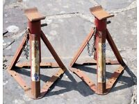 Two car axle stands
