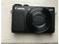 Canon Powershot G9X digital camera with original box and free SD Card