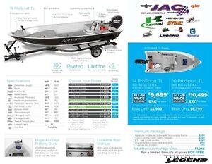 2016 Legend Boats 16 ProSport TL Mercury 9.9 MLH **Premium packa