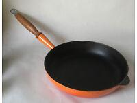 Cousances Le Creuset Large Cast Iron Frying Pan 28 Orange.