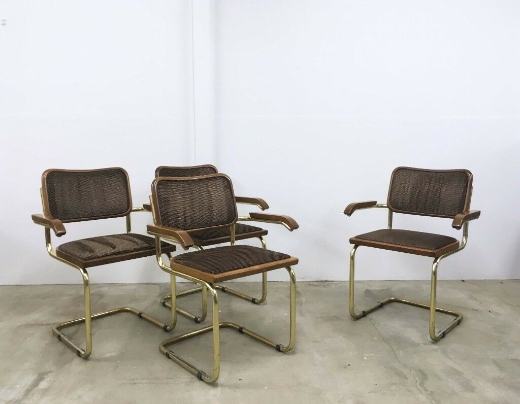 Peachy X4 Upholstered Marcel Breuer Cesca Style Cantilever Dining Chairs In Oxford Oxfordshire Gumtree Pdpeps Interior Chair Design Pdpepsorg