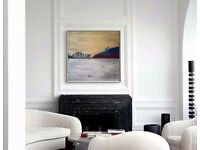 Glistening Sea: Original Acrylic Landscape Painting Art