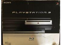 PS3 60gb b/c, f/w 3.15, boxed.