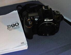 Nikon D90 with 70-300 Tamron, Cases, SB25 Flashgun, Remote Releases
