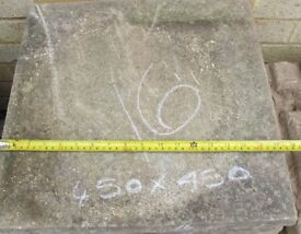 450mm x 450 mm Buff / Stone Colour Paving Slabs x 16 Off With 16 Part Slabs
