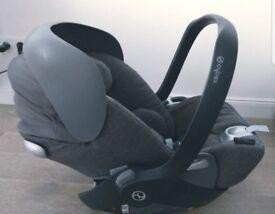 Cybex Q plus car seat & base (manhattan grey Luxury fabric)