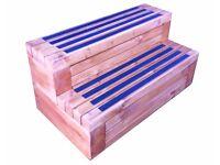 Chunky solid wooden Spa steps,Trampoline steps, Hot tub steps, Caravan steps