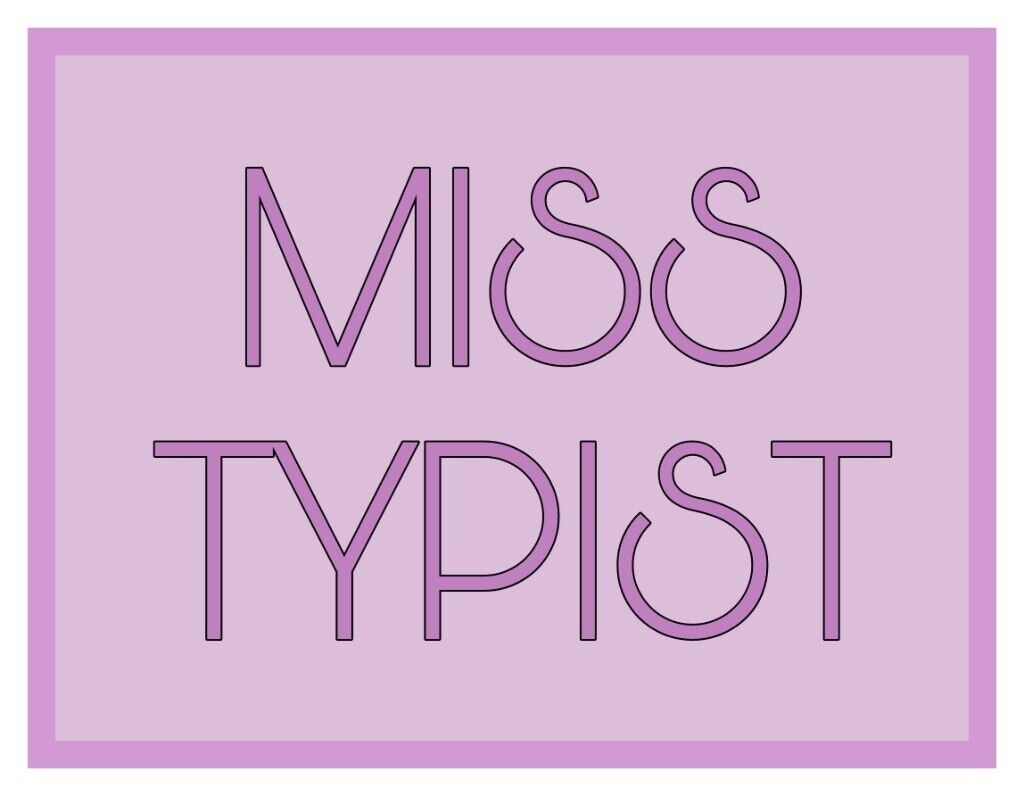MISS TYPIST Copy Typing Service (from your handwritten papers or