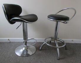 2 breakfast bar stools EFFEZETA chair back rest dining chairs