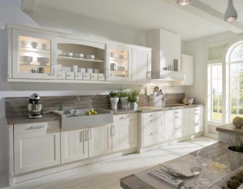 Landhausküche landhausküche romantisch eiche lackiert auf maß gefertigt in
