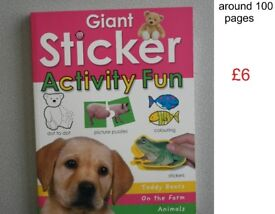 Children's activity selection (prices in photos)