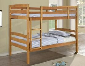 🎆💖🎆GUARANTEE PRICE🎆💖🎆SINGLE-WOODEN BUNK BED FRAME w OPT MATTRESS- GRAB THE BEST