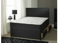 💖SUPERB QUALITY🔵DOUBLE/KING SIZE DIVAN BED BASE WITH OPTIONAL MATTRESS & HEADBOARD