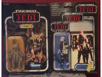 vintage starwars / star wars tri logo Dengar carded and Teebo Kenner carded