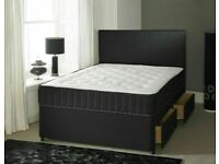 🔵💖🔴MID MONTH PRICE DROP🔵💖🔴DOUBLE/KING SIZE DIVAN BED BASE WITH OPTIONAL MATTRESS & HEADBOARD
