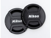 LENS CAPS TO FIT NIKON CAMERAS