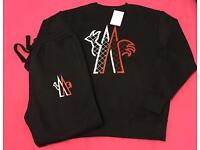 Black Red & White Full Jogging Tracksuit Brand New
