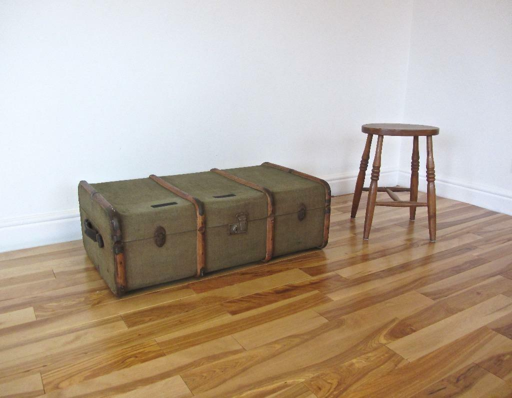 Vintage bentwood steamer trunk coffee table storage for Coffee tables gumtree london