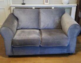 Grey Velvet Sofa Collin & Hayes, Angelo style, hardly used, £250 ono