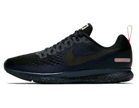 Nike AIR Zoom Pegasus 34 Shield BLACK for MEN, running, trainers, sport shoes SizeUK 6 7 8 9 10