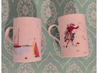 Cath kidston rare cowboy & boat cups/mug.discontinued.£10 each