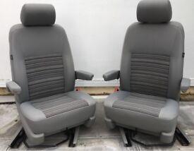 VW T5 GP California Crete Pattern Front Seats