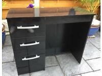 Dressing Table / Desk - High Gloss Black - New / Unused
