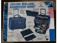 Wall Street pilot style computer rolling briefcase