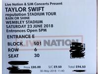 Taylor Swift 4x Tickets Wembley Stadium Sat 23 June