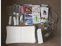 Nintendo Wii Bundle including console, balance board and games