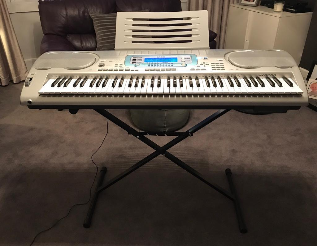 Casio Wk 3000 Musical Information System With 76 Note