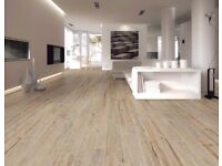 RAK Hemlock Porcelain Rectfied natural wood affect floor tiles. High end niche product RRP £65.99