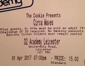 X2 tickets for Circa Waves at the O2 academy Leicester