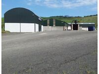 TO LET - TO RENT - Modern Shed Workshop Units & Large Yard - SMALL UNITS AVAILABLE