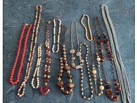 Costume Jewellery Necklaces x 12