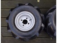 ride on mower wheels