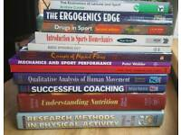 Sports Science textbooks x12