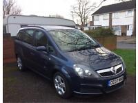 Brilliant condition Vauxhall Zafira. Low mileage. 12 month mot