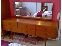 "Meredew 1963 ""teak"" dressing table & mirror - retro / vintage - excellent condition"