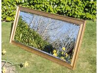 Large Wall Mirror (1650mm x 750mm) with gold coloured frame.