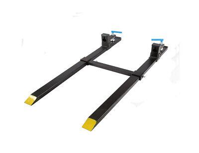 Clamp On Pallet Forks W Adjustable Stabilizer Bar Lw For Loaders 1500lb Loader