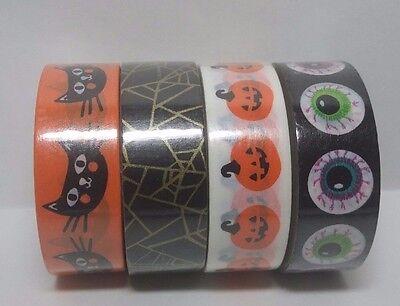 Scotch Expressions Halloween Washi Tape (Set of 4) Scrapbooking & Paper Crafts - Halloween Expressions