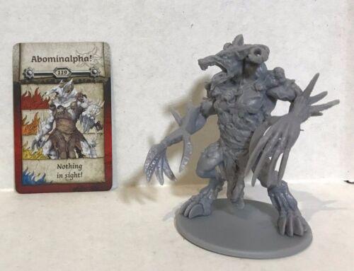 Zombicide Black Plague Kickstarter Exclusive :KNIGHT:  ABOMINALPHA w/card CMoN