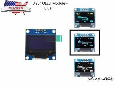 0.96 I2c Iic Serial 128x64 Blue Oled Lcd Led Display Module For Arduino