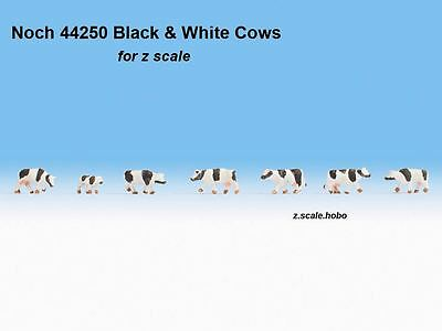 Noch 44250 Z Scale Figures Animals Cows Calf Cattle BLACK-WHITE Spots *NEW$0SHIP