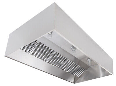Commercial Kitchen Stainless Steel Exhaust Hood Fan Pitched Roof Curb
