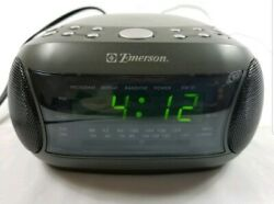 Emerson CKD9901 Digital Dual Alarm Clock AM FM Radio Snooze CD Player Tested
