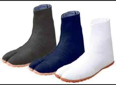 "Japanese Tabi Boots Ninja Shoes Marugo /""Sports Jog/"" Black White F//S Japan New"