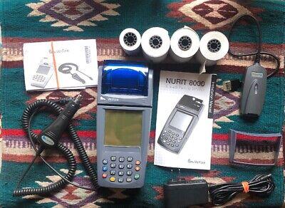 Verifone Lipman Nurit 8000 Wireless Solution Credit Card Machine Manuals Power