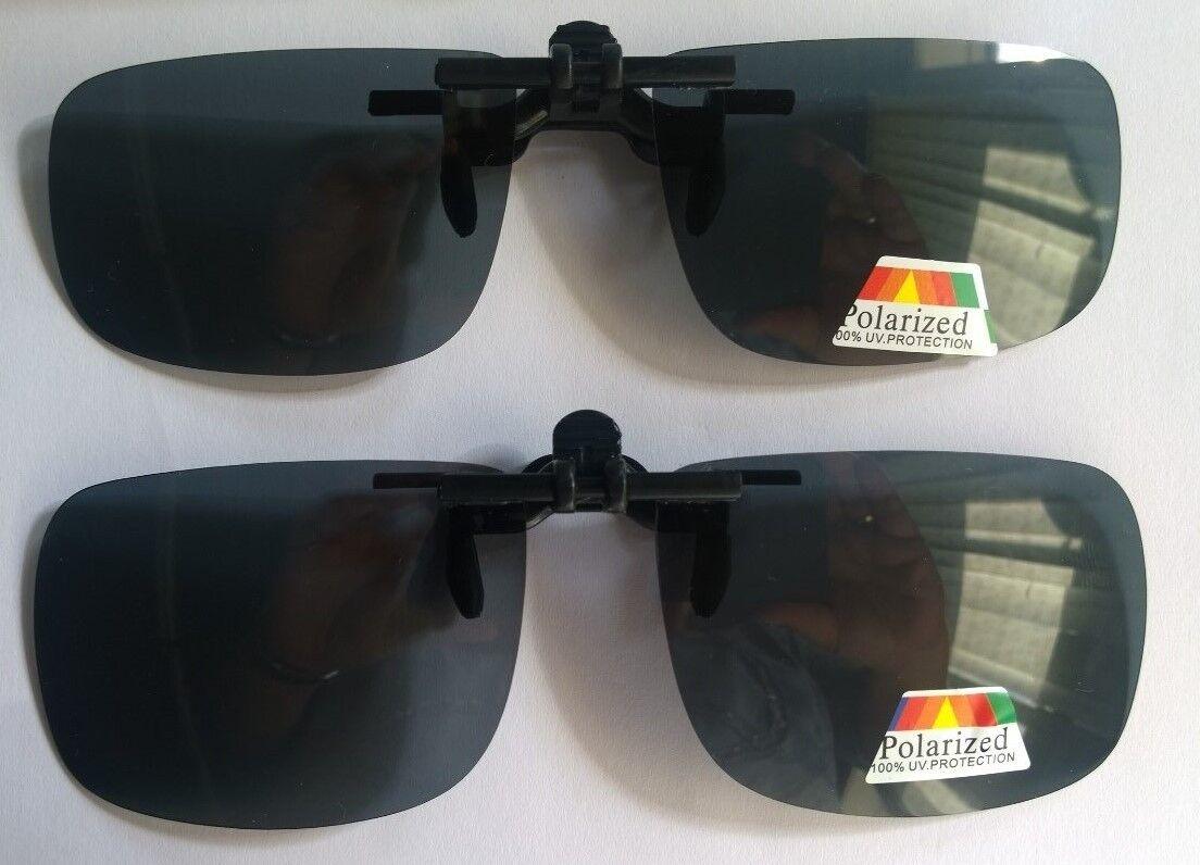 Überbrille Aufsatz Clip on Sonnenbrillenaufsatz polarisiert 100% UV hochklappbar